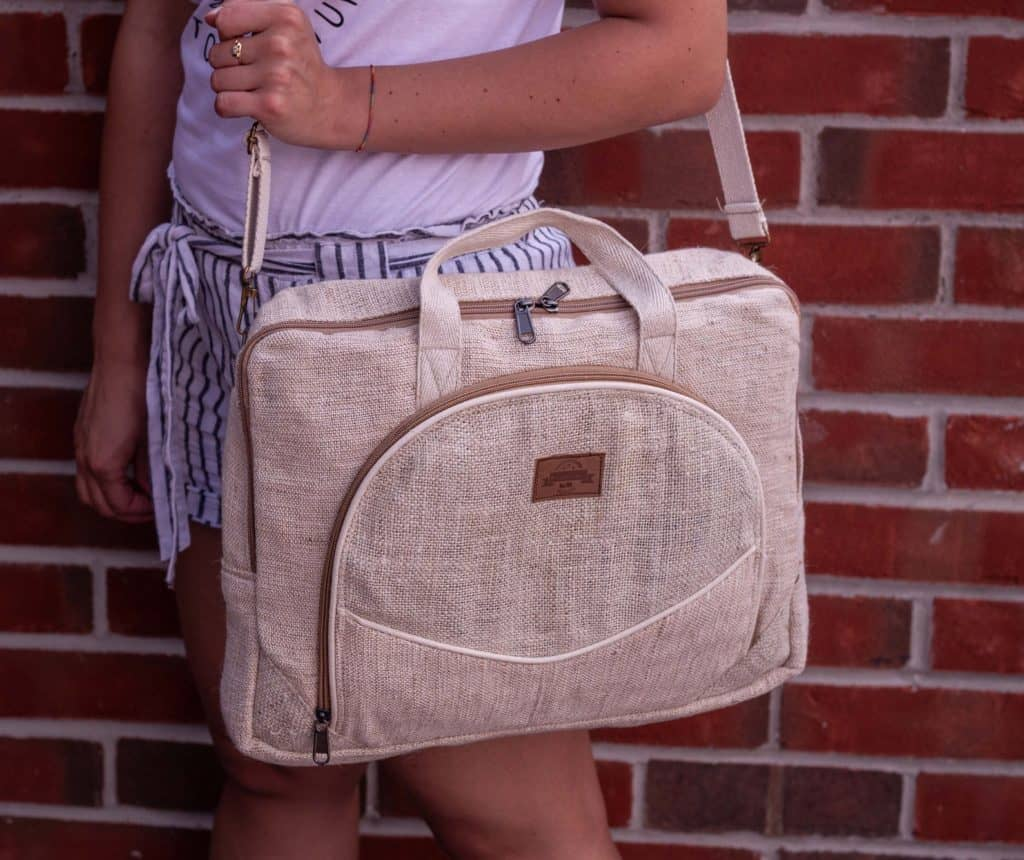 hemp vegan laptop bag