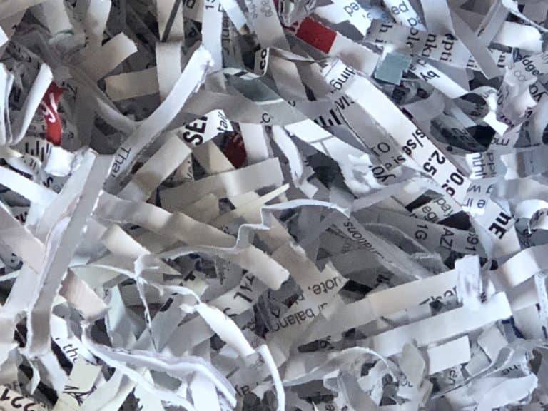 shredded paper ready for composting