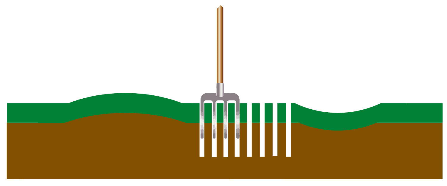 aerating the lawn