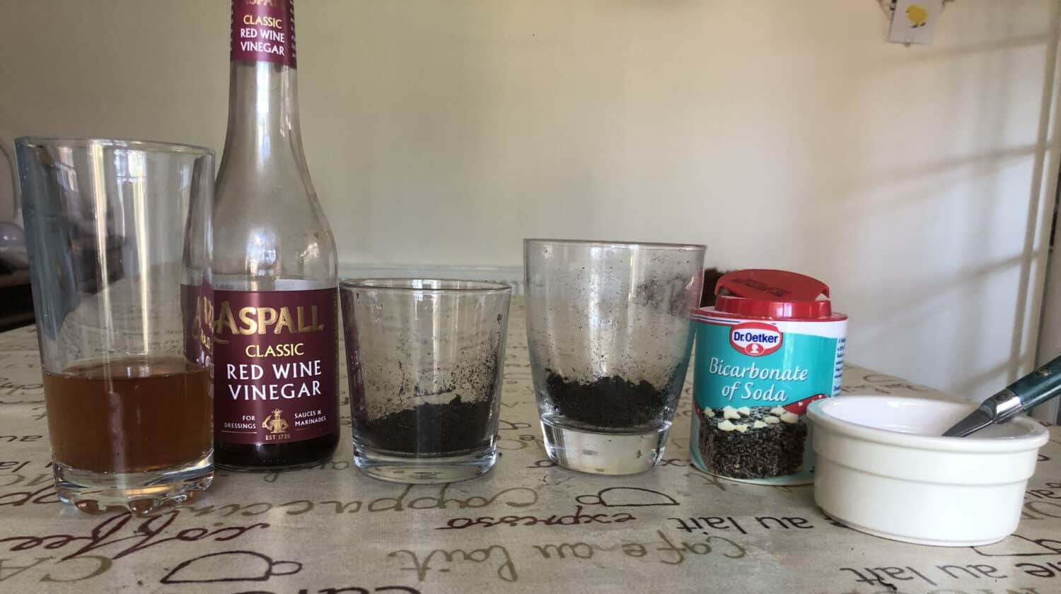 ingredients for a soil pH test