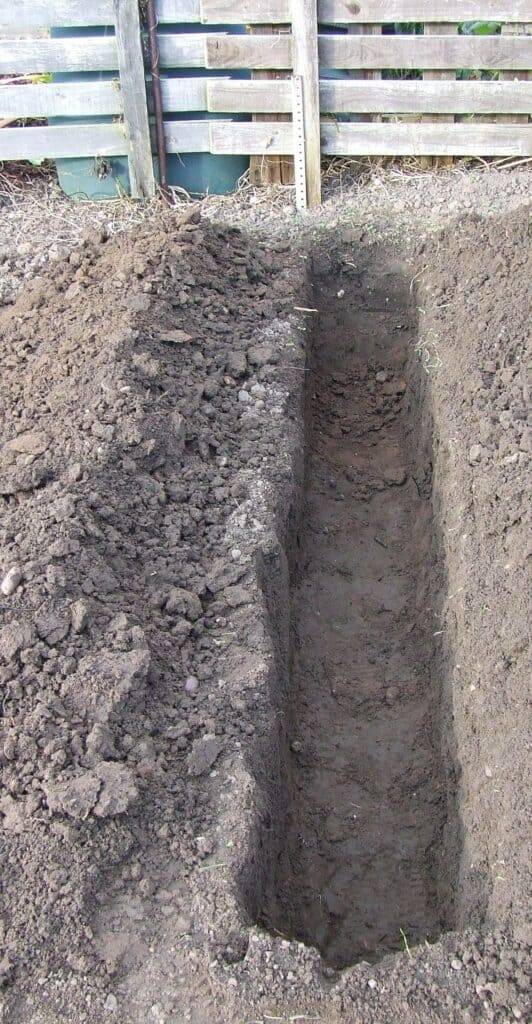 a dug out trench