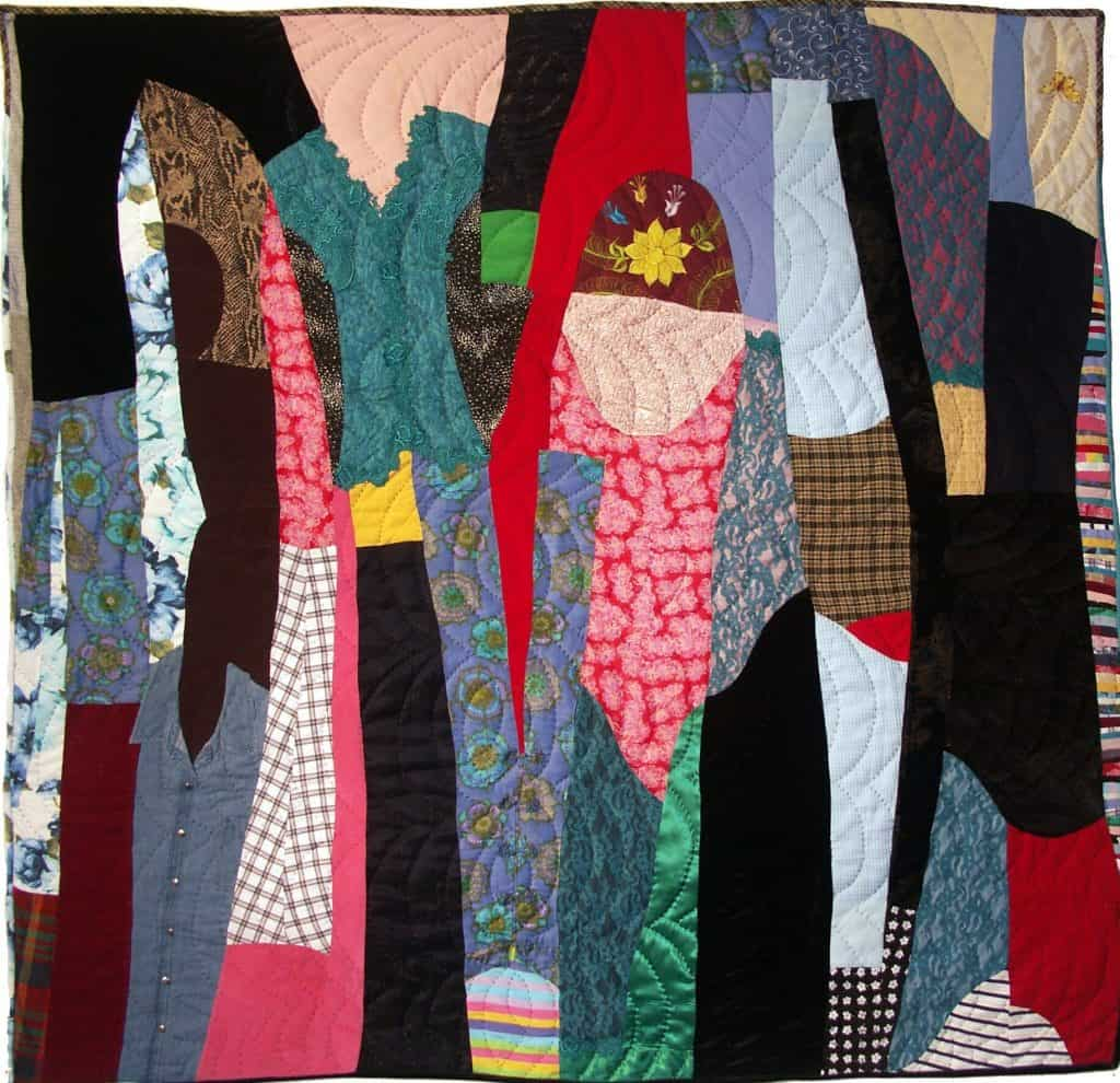 quilt made from old clothes
