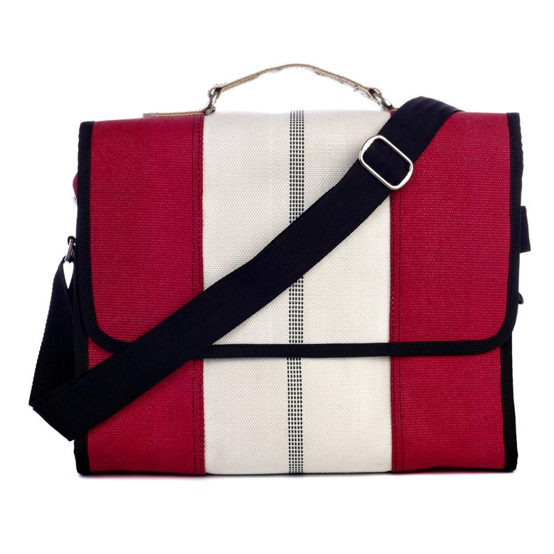 fire hose recycled laptop bag