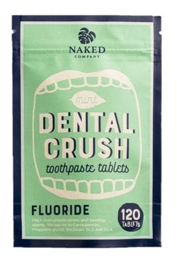 Naked company zero waste toothpaste tablets