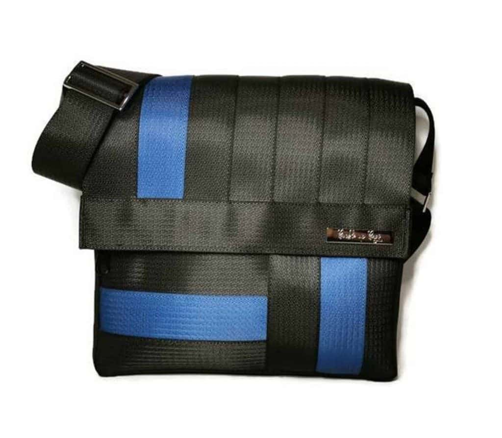 Seatbelt vegan messenger bag