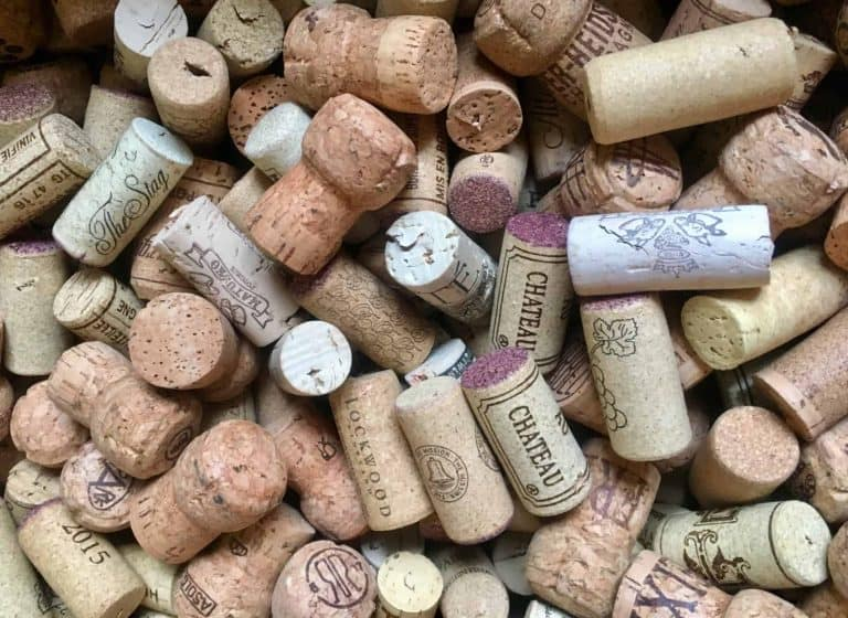 Collection of natural wine corks